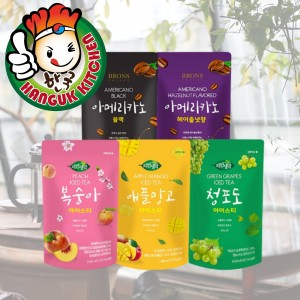 BRONS Korean Assorted Flavoured Iced Tea Pouch Drink 190ml Brons