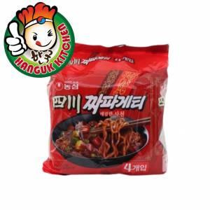 Chapaghetti Sachun Jjajang Noodles SPICY Korean Ramen (4 Packets) 137g